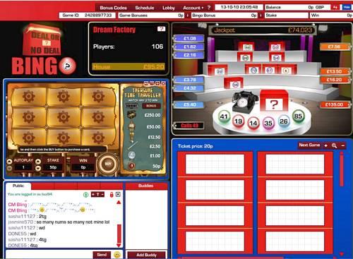 bet365 deal or no deal bingo