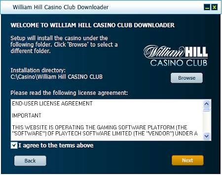 william hill casino club online support