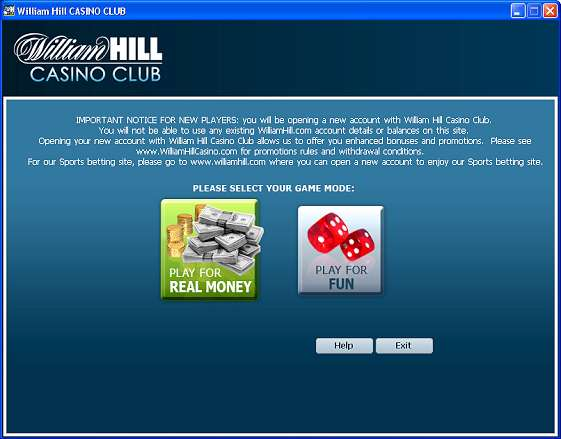 william hill casino club voucher code