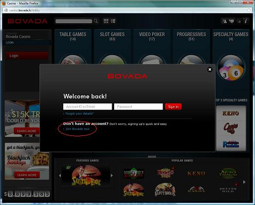bovada casino instant play
