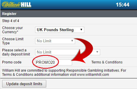 William hill casino app bonus code casino grand online overall payout