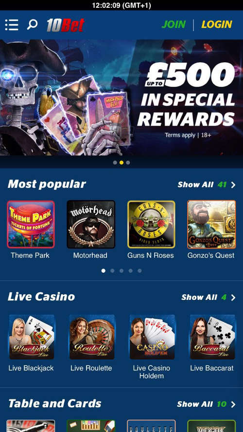 10bet-casino-mobile-app