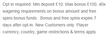 casino club bonus terms