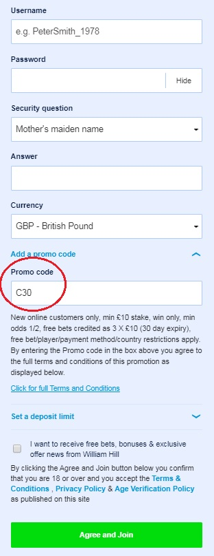 Top 6 William Hill Promo Codes & Bonuses Sep 2019