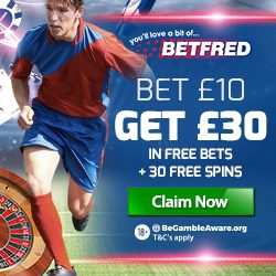 Betfred Promotion Codes for Free Bets & Free Spins