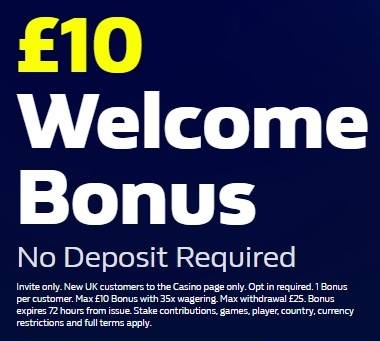 William Hill Casino £10 No Deposit Promo Code