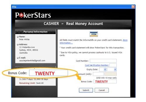 Pokerstars bonus code 2020