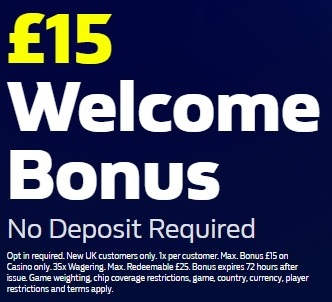 William Hill Casino £15 No Deposit Promo Code