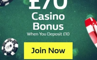 William Hill Casino Bonus Deposit £10 Get £70!